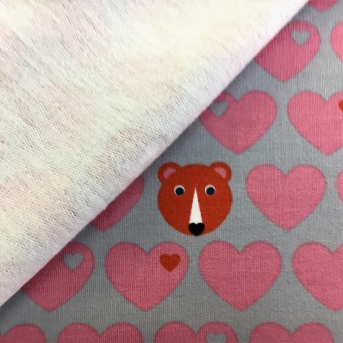 Baumwollsweat Bär rosa byGraziela