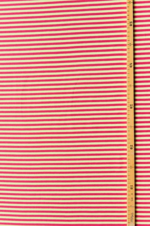 Bio-Ringeljersey dunkelpink/gelb