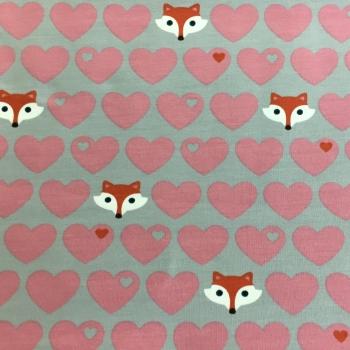 Baumwollsweat Herzen Fuchs byGraziela