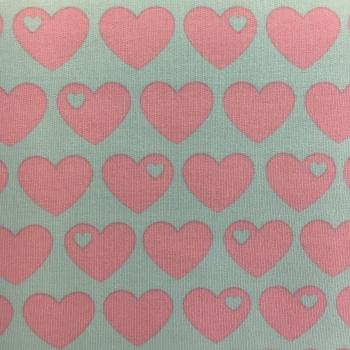 Baumwollsweat Herzen rosa byGraziela