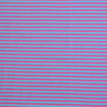 Bio-Ringeljersey türkis/pink