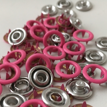 Jersey Druckknöpfe pink