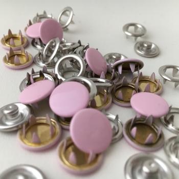 Jersey Druckknöpfe rosa