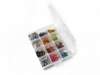 Jersey Druckknöpfe Set mit 150 Druckknöpfen in 10 Farben